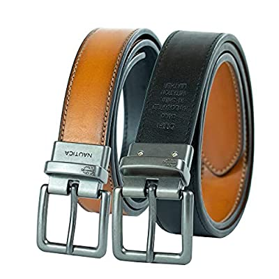 Nautica Big Boy's Reversible Belt,Tan/Black,32