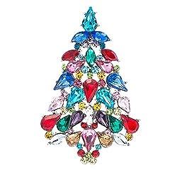 Onyx Crystals Rhinestone Brooch