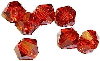 Swarovski Crystal Bicones 5301/5328 4mm Indian Red-- 50 Beads