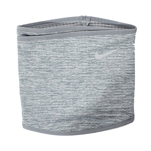 Nike Erwachsene Run Therma Sphere Neck Warmer Nackenwärmer, cool Grey Heather/Silver, S/M