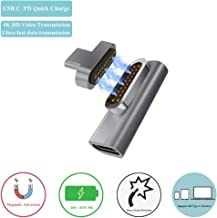 Magnetic Type C Adapter, 87W PD Quick Charge, USB C Connector, 10Gbp/s Speed Compatible with MacBook / MacBook Pro / Matebook / Surface Book / Samsung S and more Type C Device