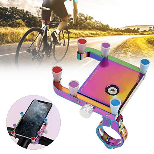 minifinker Soporte para teléfono móvil para Bicicleta, Soporte para teléfono para Bicicleta con 2 Arandelas, Resistente y Duradero para Montar en Bicicleta