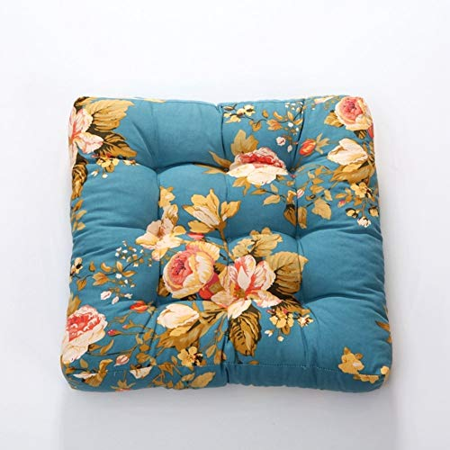 LNDDP 100% algodón Acolchado de Asiento Cuadrado, Oficina Engrosada Almohadillas de Asiento Confort Antideslizantes Cojines de Silla Sin ataduras