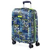Lois - Maleta Cabina de Viaje rígida 4 Ruedas Trolley 55 cm abs Estampado y Texturizado. Equipaje de Mano. y Ligera. vuelos Low Cost ryanair 131750, Color Marino