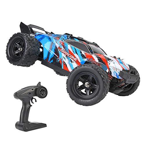 Drfeify Coche Teledirigido de RC, Juguetes de 2.4GHz RC Off-Road Truck para Niños y Adultos, Coche de Velocidad Rápida RC Modelo de Juguete para 1/18 RC Car(Azul)