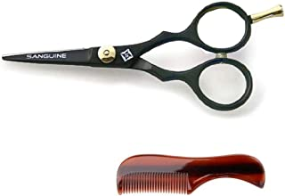 "Professional Moustache Scissors, Beard Trimming Scissors, Extremely Sharp 5"" (13cm) + Case"