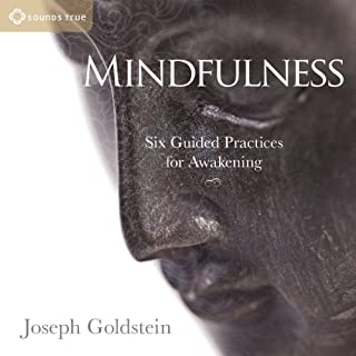 Mindfulness     Six Guided Practices for Awakening              By:                                                                                                                                 Joseph Goldstein                               Narrated by:                                                                                                                                 Joseph Goldstein                      Length: 2 hrs and 31 mins     43 ratings     Overall 4.7
