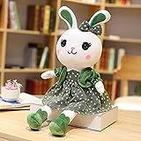 Bunny Puppe Plüschtier Weiß Kaninchen Kaninchen Puppe Prinzessin Bett Rag Puppe Rag Puppe Für...