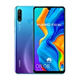 Huawei P30 Lite (128GB, 4GB RAM) 6.15' Display, AI Triple Camera, Dual SIM Global GSM Factory Unlocked MAR-LX3A - International Version, No Warranty (Peacock Blue)