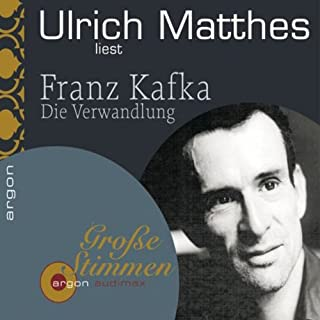 Die Verwandlung                   By:                                                                                                                                 Franz Kafka                               Narrated by:                                                                                                                                 Ulrich Matthes                      Length: 2 hrs and 29 mins     1 rating     Overall 5.0