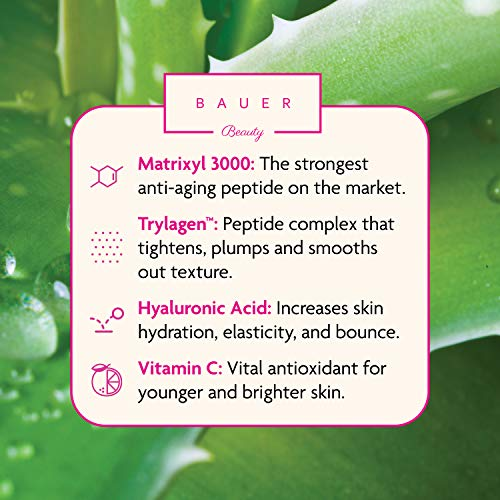 51Q1MFLbXdL - Collagen Face Serum Best Anti Aging Peptide Complex with Matrixyl 3000 and Hyaluronic Acid, Vitamin E, Brightening and Skin Tightening for Glass Skin