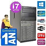 Dell PC Tour 7020 Intel Core i7-4770 RAM 16Go Disque Dur 2To Windows 10 WiFi...