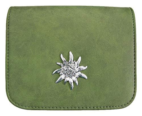 Trachtentasche mit Edelweiß Applikation Grün