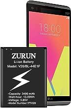 LG V20 Battery ZURUN 3400mAh Li-ion Battery Replacement for LG V20 BL-44E1F H910 H918 LS997 US996 VS995 | V20 Spare Battery [2 Year Warranty]