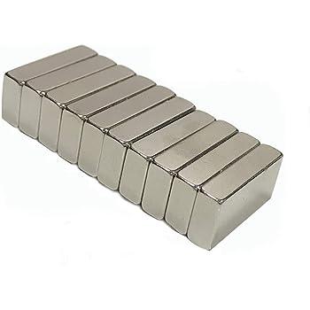 耐熱200度!世界最強磁石/20mm×10mm角型5mm厚ネオジム磁石 x 10個セット