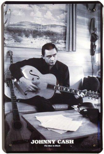 Plaque de Johnny Cash 20 x 30 cm publicité Retro Tôle 339