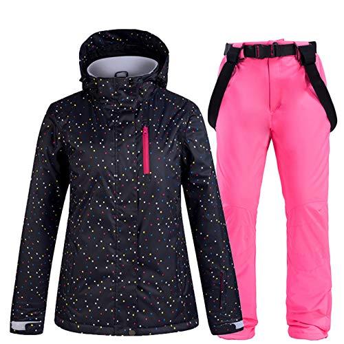 SxLingerie Traje De Esquiar Mujer Chaqueta Y Pantalones Esquí De Invierno Térmico Pantalones...