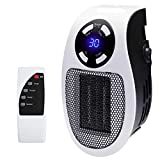 AZOD Electric Flame Heater Fan Air Warmer Fireplace Flame Heater Mini Smart 500W Handy Heater with Remote, Compact Plug In Portable Digital Electric Heater Fan Wall Outlet Adjustable Timer Display Air Warmer Blower Adjustable Timer Digital Display ortable Handy Room Heater handy Heater Fan Room Heater