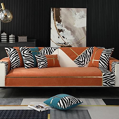 Funda de sofá con Lavable para cojines individuales, fundas de cojines decorativos Fundas de cojines para exteriores modernas Fundas de almohada de lujo para sofá cama naranja 28 * 28 inch