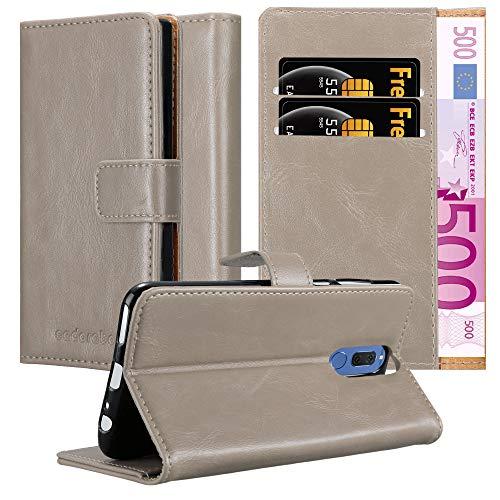 Cadorabo Hülle für Huawei Mate 10 LITE in Cappuccino BRAUN – Handyhülle mit Magnetverschluss, Standfunktion und Kartenfach – Case Cover Schutzhülle Etui Tasche Book Klapp Style