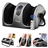 TISSCARE Foot Massager Machine with Heat and Remote, Shiatsu Foot and Calf Leg Massager for Plantar Fasciitis and Neuropathy, Deep Kneading Relieve Pain and Fatigue, Increases Blood Flow Circulation