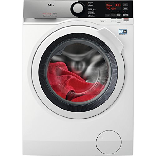 AEG L7WEE861 Independiente Carga frontal A Blanco lavadora - Lavadora-secadora (Carga frontal, Independiente, Blanco, Izquierda, Botones, Giratorio, LED)