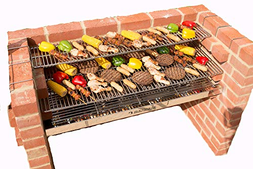 BLACK KNIGHT BARBECUES BKB 801 112 x 39 cm XL Barbecue kit – en Acier Inoxydable