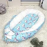 HYXXQQ Baby-Nest Kokon Neugeboren Atmungsaktiv Bionic Bett Abnehmbarer Super Weich Bio-Baumwolle Baby-Pod (0-12 Monate Baby) Im Freien Schlafzimmer Reisen Geschenk (Farbe : A)