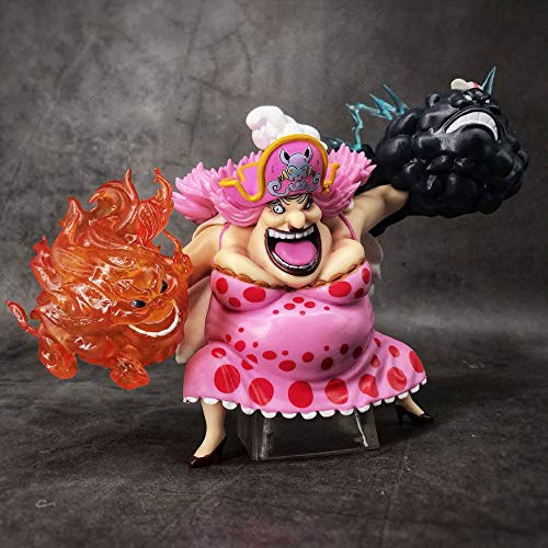 QIYHBVR ONE Piece Anime GK Four Emperors Aunt Charlotte Linlin Figure Figure Version Statue Doll Sculpture Toy Decoration Model Height 15cm