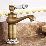 Grifo de latón para baño, instalación de cubierta, grifo de lavabo frío y caliente, grúa