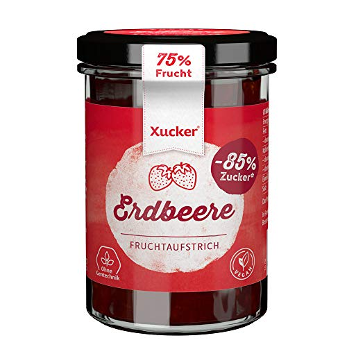 Xucker Erdbeere Fruchtaufstrich mit Xylit, 220 g