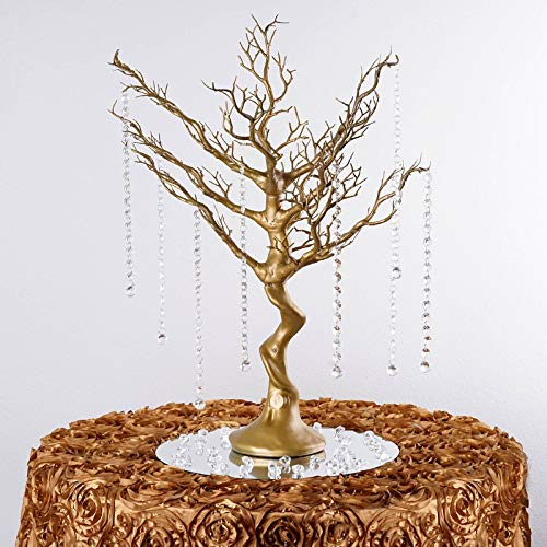 Glittered Manzanita Centerpiece Tree For Wedding Banquet