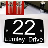 House Number Plaque Black Acrylic