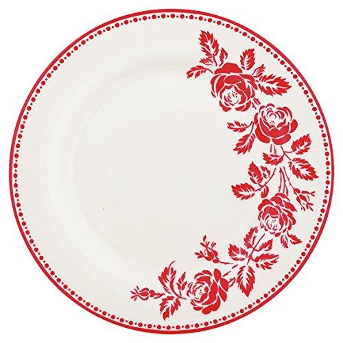 Green Gate Assiette en porcelaine fleur Red