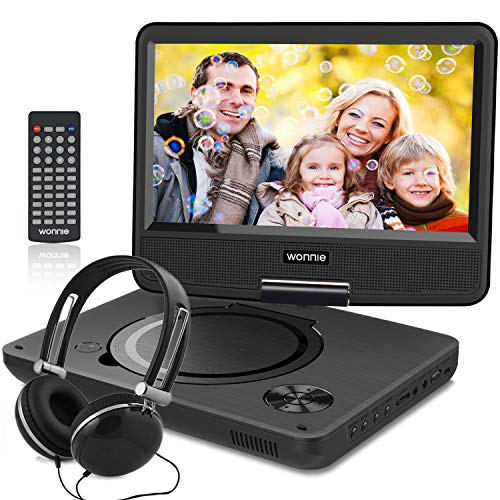 WONNIE 10.7 inch Portable DVD Player with 9 inch Rotatable...