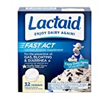 Lactaid Fast Act Lactose Intolerance Chewables with Lactase Enzymes, Vanilla Twist, 32 Pks of 1-ct....