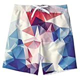 Idgreatim Ragazzi Bambini Shark Stampato Casual Costume da Bagno Cool Outdoor Shorts Board Shorts con Tasche