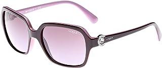 Vogue Square Red Women's Sunglasses - VO2994SB-23218H-57-57-18-130