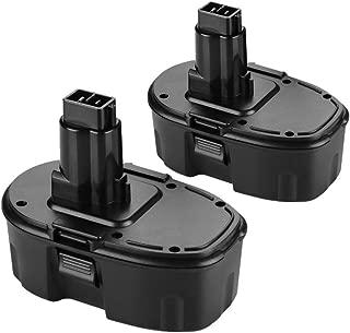 Replace Dewalt 18V Battery for Dewalt 18 Volt 3.6AH DC9096 DC9099 DC9098 High Capacity Cordless Drill (2Packs)