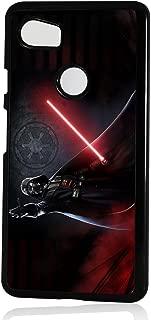 (for Google Pixel 3 XL) Black Frame Back Case Cover - A11432 Starwars Dearth Vader