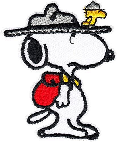 Park Ranger Snoopy mit Woodstock – bestickter Aufnäher zum Aufbügeln