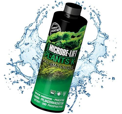 Microbe-Lift Plants K Vloeibare kalium meststof voor aquarium planten, sterk geconcentreerd, 473 ml