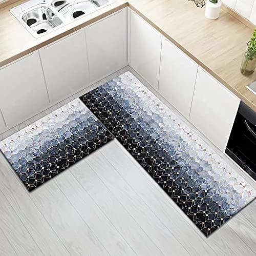 HLXX Felpudo de Entrada de Dormitorio de Cocina Moderna decoración de Suelo de Pasillo de casa Alfombra de Sala de Estar Alfombra Antideslizante de baño A5 40x120cm