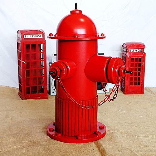 LUCKFY Statua in Metallo idrante antincendio - Lampione da addestramento per Cani - Figurine Decorative per idrante antincendio da Esterno per Giardino Esterno Ornamento da Cortile,Large Size