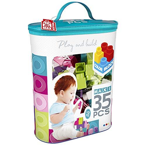 ColorBaby - Bloques construcción bebé 35 piezas, bloques de colores(49282)
