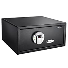Secure Storage: Our DOJ approved safe comes with a 120 fingerprint biometric module that is easy to program. The Optional Silent Mode: Safe features a silent mode that enables stealthy home defense. Solid Construction: This safe is built with durable...