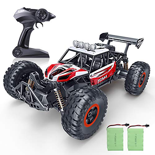 RC Car, SPESXFUN 2020 Newest 1:14 Scale High Speed Remote Control Car, 2.4Ghz Off Road RC Trucks with Two Rechargeable Batteries, Electric Toy Car for All Adults & Kids