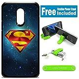 for Samsung Galaxy [J7 2018] [J7 Star] [J7 Refine] [J7 Aero] [J7 Eon] [J7 Crown] [J7 Aura] Defender Rugged Hard Cover Case - Superman Universe