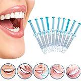 NAttnJf Cuidado de los Dientes Cuidado bucal Fácil de Usar 10 Piezas de blanqueamiento Dental...
