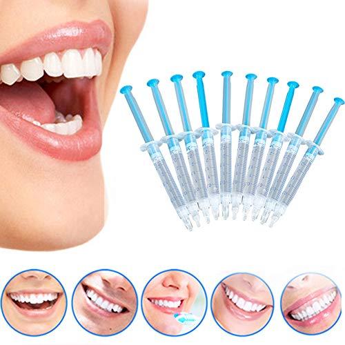 NAttnJf Cuidado de los Dientes Cuidado bucal Fcil de Usar 10 Piezas de blanqueamiento Dental perxido de Gel blanqueamiento Dental Kit Dental para el Cuidado Dental